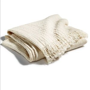 Hotel collection Textured Throw  Ivory